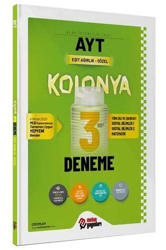 Metin Yayınları AYT Eşit Ağırlık Sözel Kolonya 3 Deneme