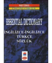 Metro Yayınları - Metro Collins Cobuild Essential Dictionary İngilizce İngilizce Türkçe Sözlük Ciltli