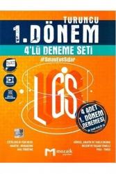 Mozaik Yayınları - Mozaik Yayınları 8. Sınıf LGS 1. Dönem 4 Lü Deneme Seti Turuncu Video Çözümlü