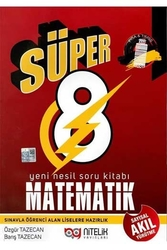 Nitelik Yayınları - Nitelik Yayınları 8. Sınıf Süper Matematik Yeni Nesil Soru Kitabı