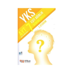 Nitelik Yayınları - Nitelik Yayınları AYT Eşit Ağırlık 7 Deneme Sınavı