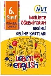 Nut Publishing - Nut Publishing 6. Sınıf İngilizce Öğreniyorum Resimli Kelime Kartları