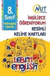 Nut Publishing - Nut Publishing 8. Sınıf İngilizce Öğreniyorum Resimli Kelime Kartları