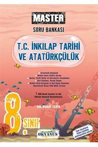 Okyanus Yayınları 8. Sınıf Master T.C. İnkılap Tarihi ve Atatürkçülük Soru Bankası