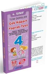 Oscar Yayınları - Oscar Yayınları 4. Sınıf Tüm Dersler Çek Kopart Yaprak Test