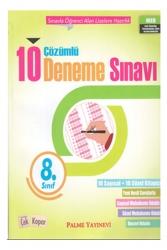 Palme Yayıncılık - Palme Yayınevi 8. Sınıf Çözümlü 10 Deneme Sınavı