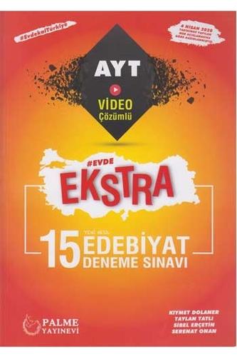 Palme Yayınları AYT Edebiyat Evde Ekstra Video Çözümlü 15 Deneme Sınavı