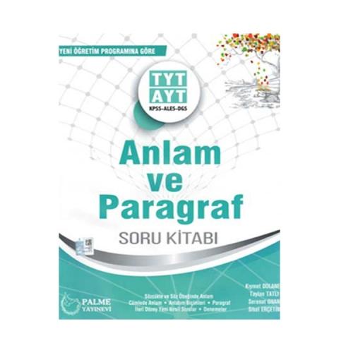 Palme Yayınları TYT AYT KPSS ALES DGS Anlam ve Paragraf Soru Kitabı