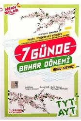 Palme Yayıncılık - Palme Yayınları TYT AYT Tarih Coğrafya Felsefe 7 Günde Bahar Dönemi Soru Kitabı