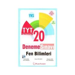 Palme Yayıncılık - Palme Yayınları TYT Fen Bilimleri 20 Deneme Sınavı