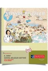 Pandül Yayınları - Pandül Yayınları 6. Sınıf Sosyal Bilgiler Defteri