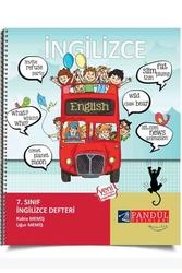 Pandül Yayınları - Pandül Yayınları 7. Sınıf İngilizce Defteri