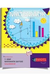 Pandül Yayınları - Pandül Yayınları 7. Sınıf Matematik Defteri