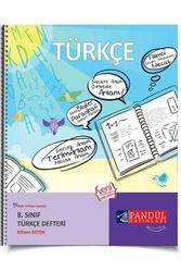 Pandül Yayınları - Pandül Yayınları 8. Sınıf Türkçe Defteri