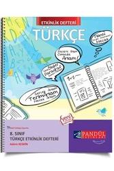 Pandül Yayınları - Pandül Yayınları 8. Sınıf Türkçe Etkinlik Defteri