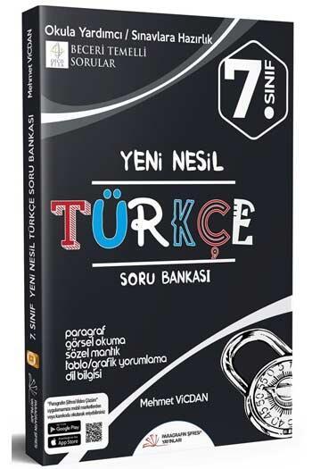 Paragrafın Şifresi Yayınları - Paragrafın Şifresi Yayınları 7. Sınıf Türkçe Soru Bankası