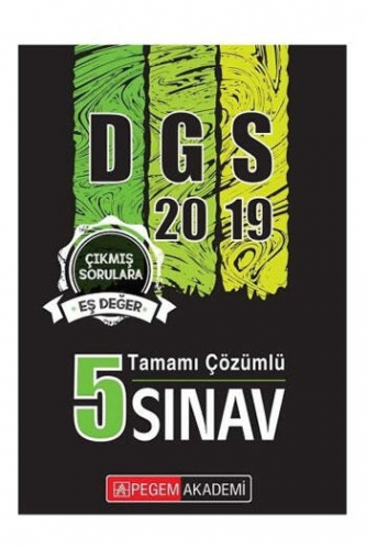 Pegem Akademi Yayıncılık DGS 5 Deneme Sınavı Çözümlü 2019