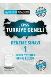 Pegem Akademi Yayıncılık - Pegem Akademi Yayıncılık KPSS Türkiye Geneli GY-GK Deneme Sınavı-1