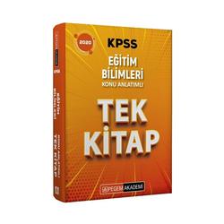 Pegem Akademi Yayıncılık - Pegem Yayınları 2020 KPSS Eğitim Bilimleri Konu Anlatımlı Tek Kitap
