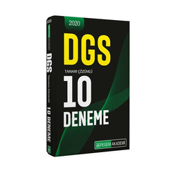 Pegem Akademi Yayıncılık - Pegem Yayınları 2020 DGS Tamamı Çözümlü 10 Deneme