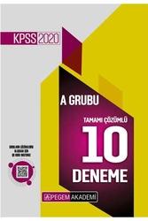 Pegem Akademi Yayıncılık - Pegem Yayınları 2020 KPSS A Grubu Tamamı Çözümlü 10 Deneme