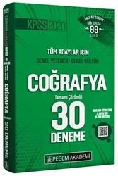 Pegem Akademi Yayıncılık - Pegem Yayınları 2020 KPSS Coğrafya Tamamı Çözümlü 30 Deneme
