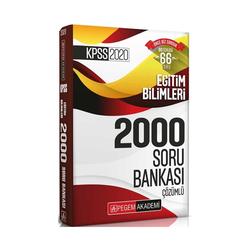 Pegem Akademi Yayıncılık - Pegem Yayınları 2020 KPSS Eğitim Bilimleri Efsane 2000 Çözümlü Soru Bankası
