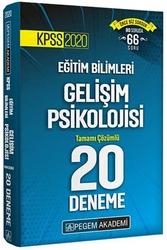 Pegem Akademi Yayıncılık - Pegem Yayınları 2020 KPSS Eğitim Bilimleri Gelişim Psikolojisi Tamamı Çözümlü 20 Deneme