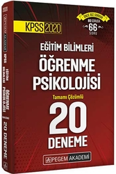 Pegem Akademi Yayıncılık - Pegem Yayınları 2020 KPSS Eğitim Bilimleri Öğrenme Psikolojisi Tamamı Çözümlü 20 Deneme
