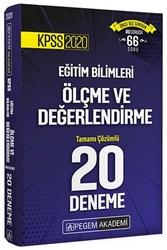 Pegem Akademi Yayıncılık - Pegem Yayınları 2020 KPSS Eğitim Bilimleri Ölçme ve Değerlendirme Tamamı Çözümlü 20 Deneme