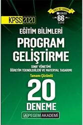 Pegem Akademi Yayıncılık - Pegem Yayınları 2020 KPSS Eğitim Bilimleri Program Geliştirme, Sınıf Yönetimi, Öğretim Teknolojileri ve Materyal Tasarımı Tamamı Çözümlü 20 Deneme