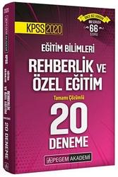 Pegem Akademi Yayıncılık - Pegem Yayınları 2020 KPSS Eğitim Bilimleri Rehberlik ve Özel Eğitim Tamamı Çözümlü 20 Deneme