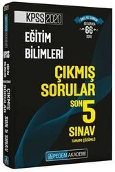 Pegem Akademi Yayıncılık - Pegem Yayınları 2020 KPSS Eğitim Bilimleri Tamamı Çözümlü Son 5 Sınav Çıkmış Sorular