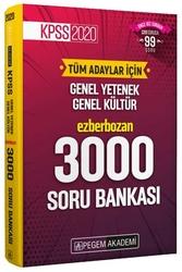 Pegem Akademi Yayıncılık - Pegem Yayınları 2020 KPSS Genel Yetenek Genel Kültür Ezberbozan 3000 Soru Bankası