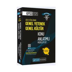 Pegem Akademi Yayıncılık - Pegem Yayınları 2020 KPSS Lise ve Önlisans Genel Yetenek Genel Kültür Konu Anlatımlı Modüler Set
