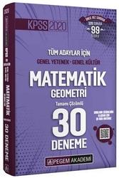Pegem Akademi Yayıncılık - Pegem Yayınları 2020 KPSS Matematik Geometri Tamamı Çözümlü 30 Deneme