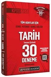 Pegem Akademi Yayıncılık - Pegem Yayınları 2020 KPSS Tarih Tamamı Çözümlü 30 Deneme