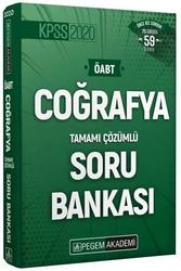 Pegem Akademi Yayıncılık - Pegem Yayınları 2020 ÖABT Coğrafya Öğretmenliği Tamamı Çözümlü Soru Bankası
