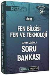 Pegem Akademi Yayıncılık - Pegem Yayınları 2020 ÖABT Fen Bilgisi Fen ve Teknoloji Öğretmenliği Tamamı Çözümlü Soru Bankası