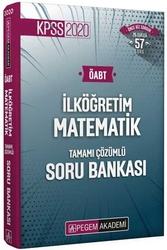 Pegem Akademi Yayıncılık - Pegem Yayınları 2020 ÖABT İlköğretim Matematik Öğretmenliği Tamamı Çözümlü Soru Bankası