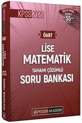 Pegem Akademi Yayıncılık - Pegem Yayınları 2020 ÖABT Lise Matematik Öğretmenliği Tamamı Çözümlü Soru Bankası