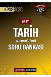 Pegem Akademi Yayıncılık - Pegem Yayınları 2020 ÖABT Tarih Öğretmenliği Tamamı Çözümlü Soru Bankası