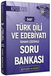 Pegem Akademi Yayıncılık - Pegem Yayınları 2020 ÖABT Türk Dili ve Edebiyatı Öğretmenliği Tamamı Çözümlü Soru Bankası