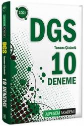 Pegem Akademi Yayıncılık - Pegem Yayınları 2021 DGS Tamamı Çözümlü 10 Deneme