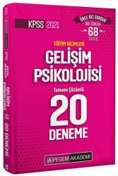 Pegem Akademi Yayıncılık - Pegem Yayınları 2021 KPSS Eğitim Bilimleri Gelişim Psikolojisi Tamamı Çözümlü 20 Deneme