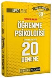Pegem Akademi Yayıncılık - Pegem Yayınları 2021 KPSS Eğitim Bilimleri Öğrenme Psikolojisi Tamamı Çözümlü 20 Deneme