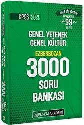 Pegem Akademi Yayıncılık - Pegem Yayınları 2021 KPSS Genel Yetenek Genel Kültür Ezberbozan 3000 Soru Bankası