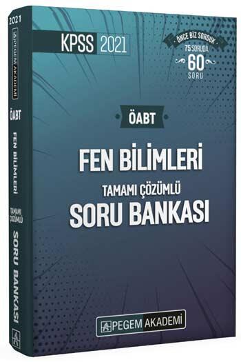 Pegem Akademi Yayıncılık - Pegem Yayınları 2021 KPSS ÖABT Fen Bilimleri Fen ve Teknoloji Tamamı Çözümlü Soru Bankası Seti 4 Kitap