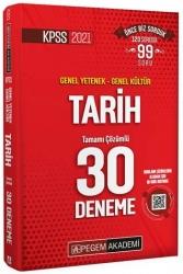 Pegem Akademi Yayıncılık - Pegem Yayınları 2021 KPSS Tarih Tamamı Çözümlü 30 Deneme