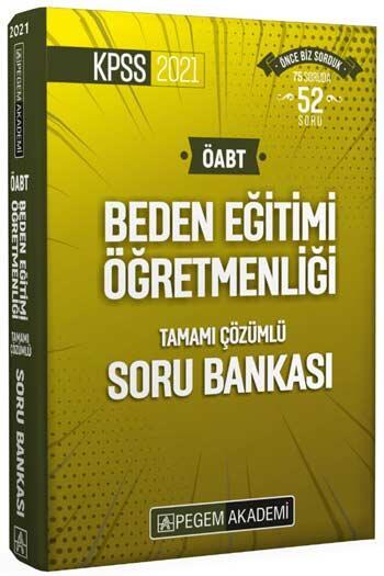Pegem Akademi Yayıncılık - Pegem Yayınları 2021 ÖABT Beden Eğitimi Öğretmenliği Tamamı Çözümlü Soru Bankası